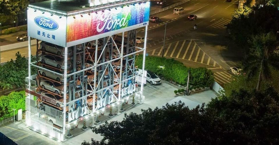 Ford and Alibaba Debut Car Vending Machine in China