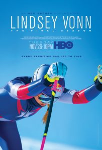 Lindsey Vonn: The Final Season premiers November 26th at 10pm ET.