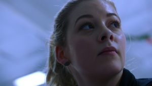 American Figure Skater Gracie Gold is highlighted in the Phelp's new film. She is the first and only American Womacks to win an NHK Trophy title.