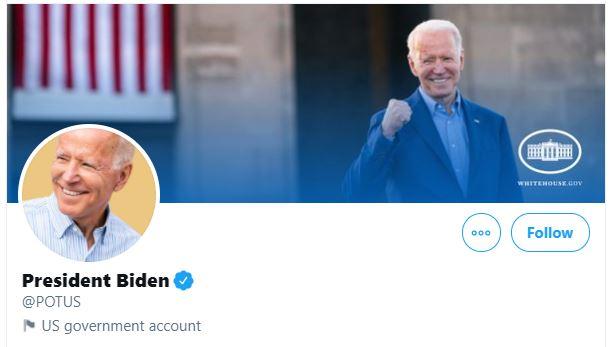 Biden twitter potus account