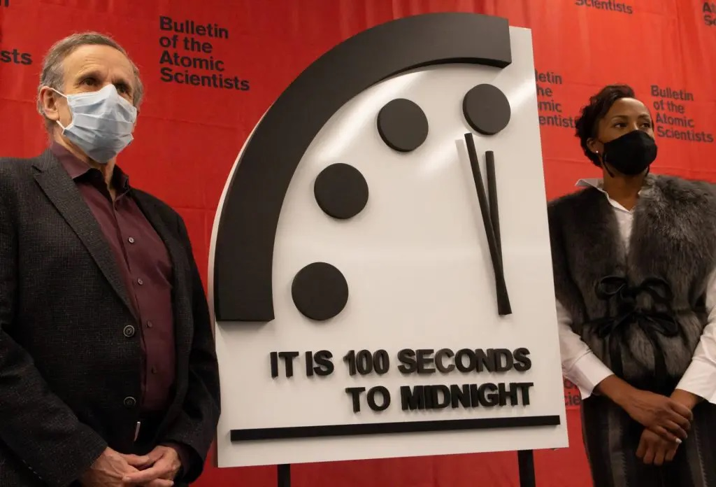 Doomsday Clock Remains at 100 Seconds to Midnight