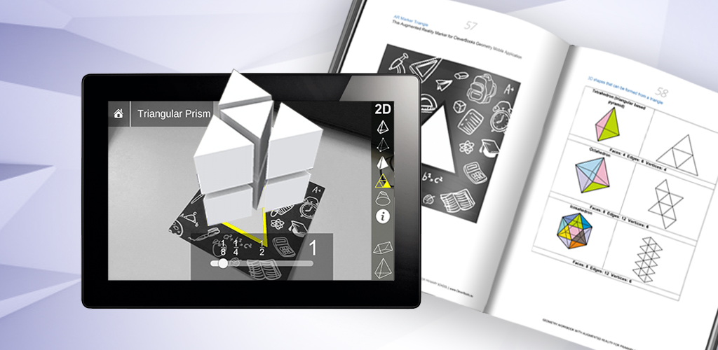 Geometry-augmented reality AR