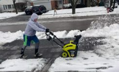 Stuck in a Snowstorm? Ryobi Electric Snowblower Battles Chicago Winter