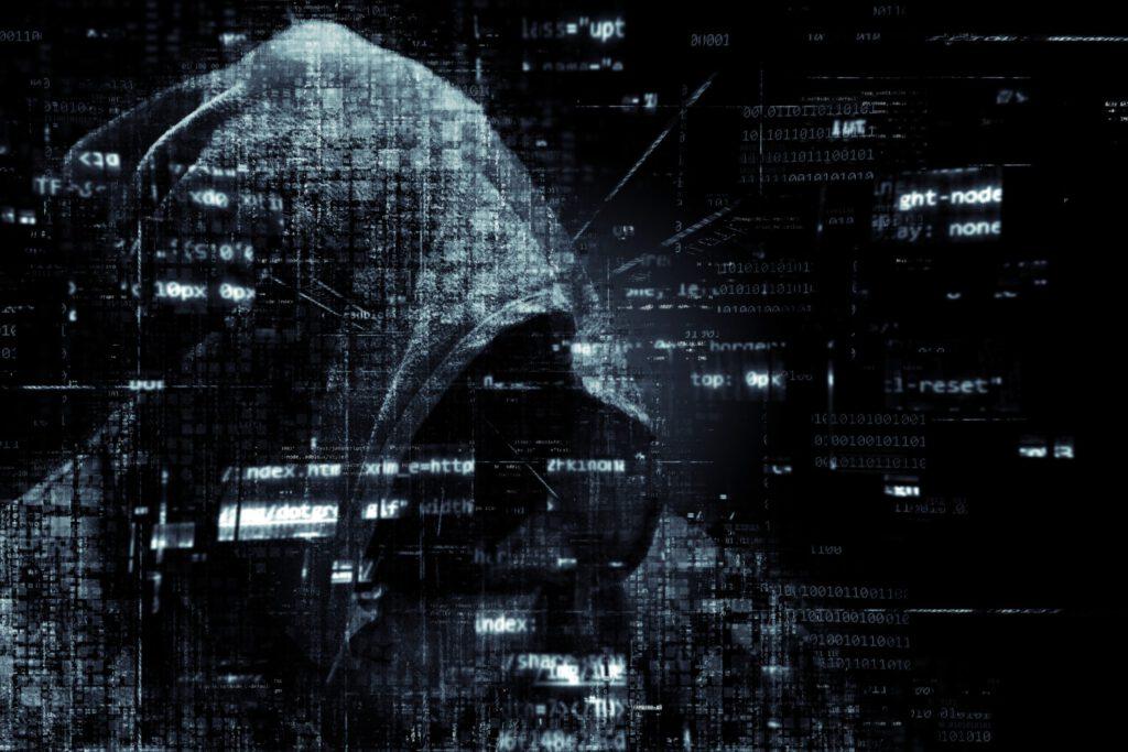 Hacker cyber crime internet drawing