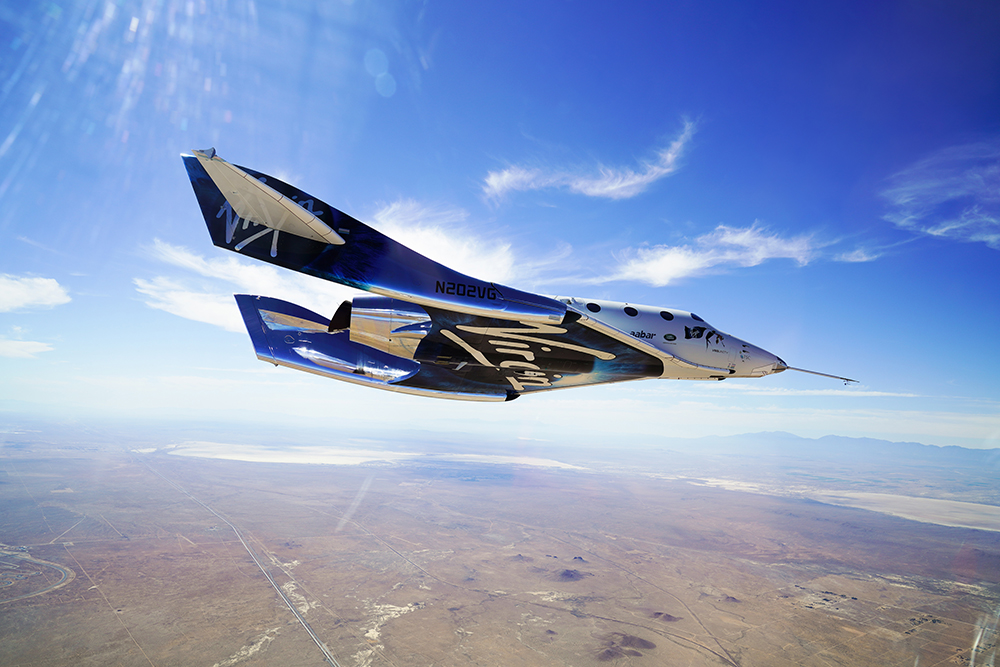 Richard Branson Welcomes VSS Unity Home from Second Supersonic F