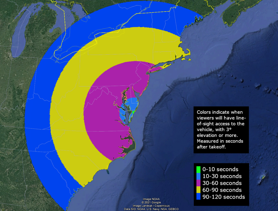 NASA Minotaur launch visibility