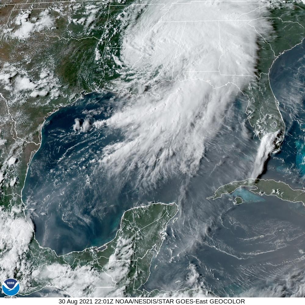 hurricane Ida radar images
